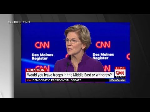 Warren Wants All Troops Out of Middle East