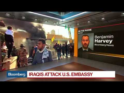 Iran-Backed Protesters Storm U.S. Embassy in Iraq